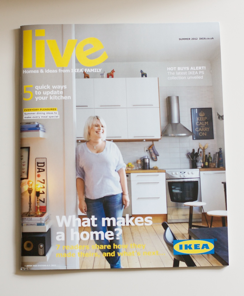An age ago Ikea Live Magazine asked me to send them some images of our  little flat for the Summer 2012 issue  Can you tell that it was tricky  taking. Ikea Live Summer 2012   Lou Lou   Oscar